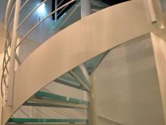 Piotrków - schody spiralne, balustrady metalowe