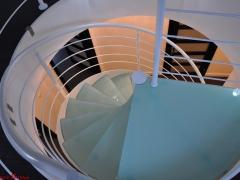 Piotrków - schody kręcone, ujęcie z góry