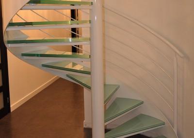 Piotrków – schody kręcone, szklane